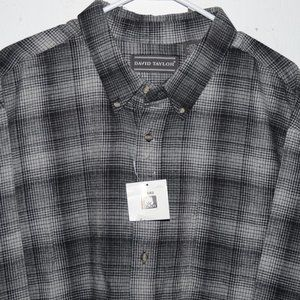 David taylor flannel mens shirt size XXL J493